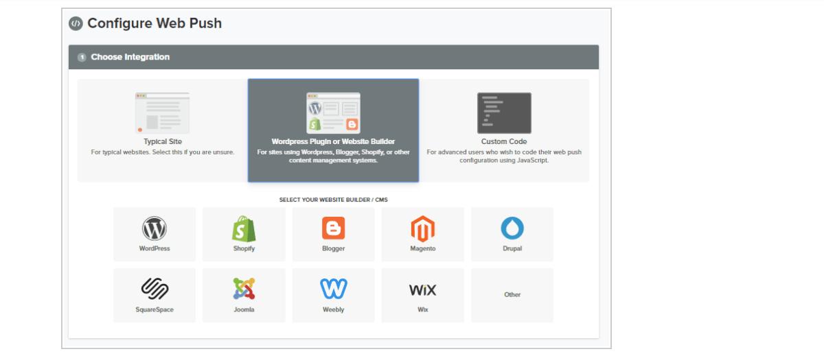 Configure WebPush